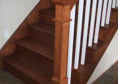 Wood Step and Railings