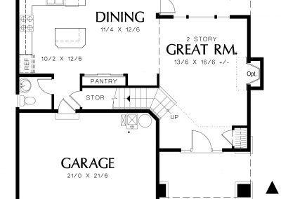1500 - Main Floor Plan