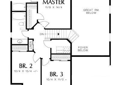 1500 - Upper Floor Plan